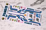 Zombie themed vinyl stickers to fit R/C Tamiya Hornet